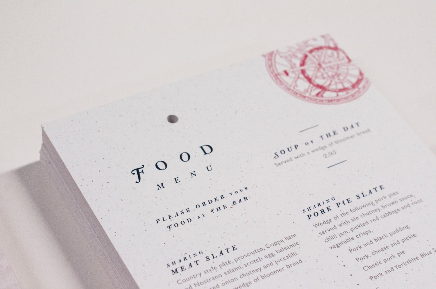 Robert Gillow food menu