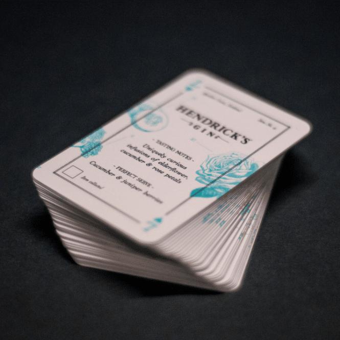Abel Ginatomy cards Hendricks gin