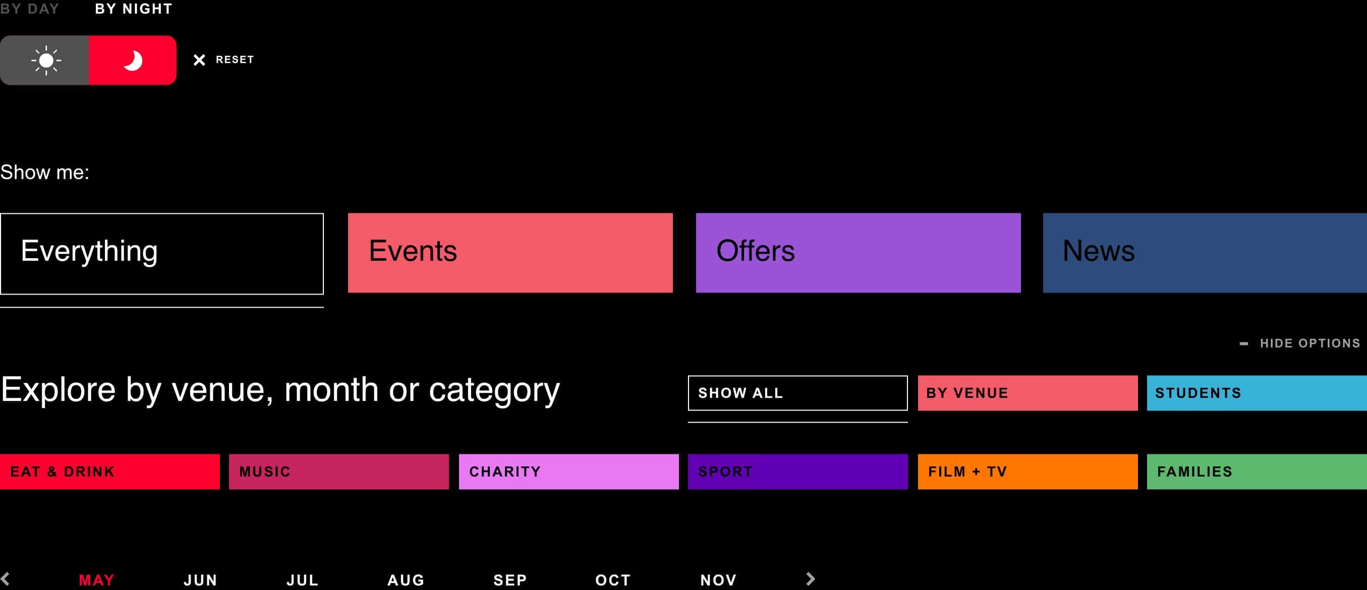 printworks website filter dark
