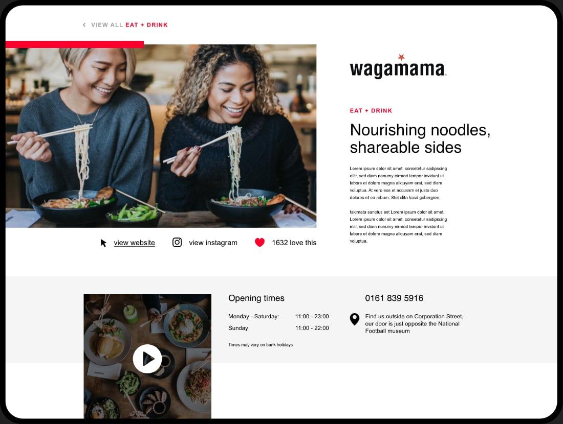 printworks ipad Wagamama