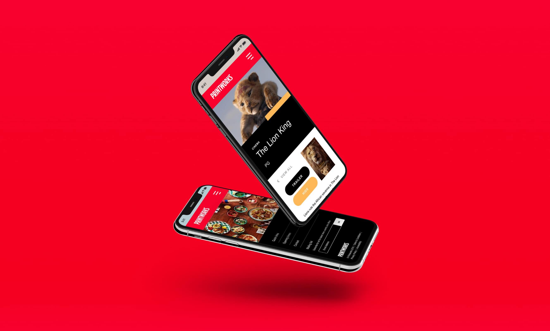 printworks website mockup iphones