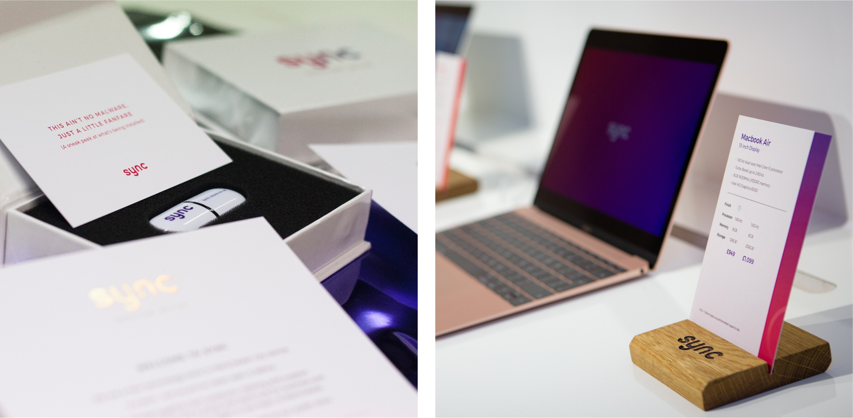 sync invite and product cards
